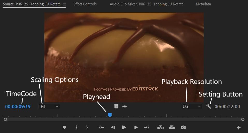 Premiere Pro Source Monitor