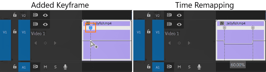 Premiere Pro: Adding Keyframe and Time Remapping Clip